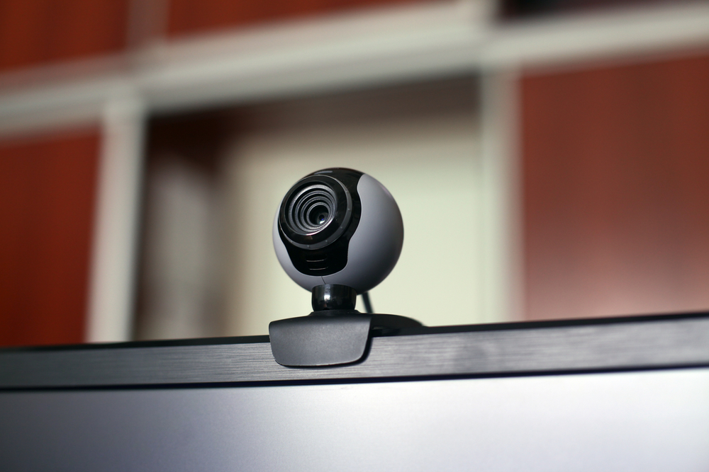 Webcam on Top of Monitor for Zoom Video Conference